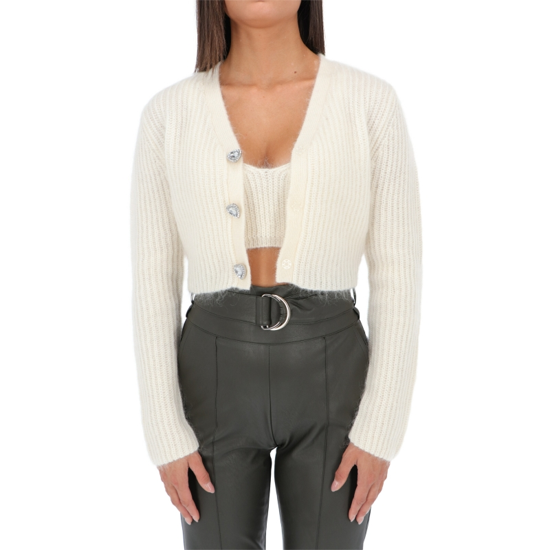 OVERSIZED CARDIGAN WITH JEWEL BUTTONS FASTENING