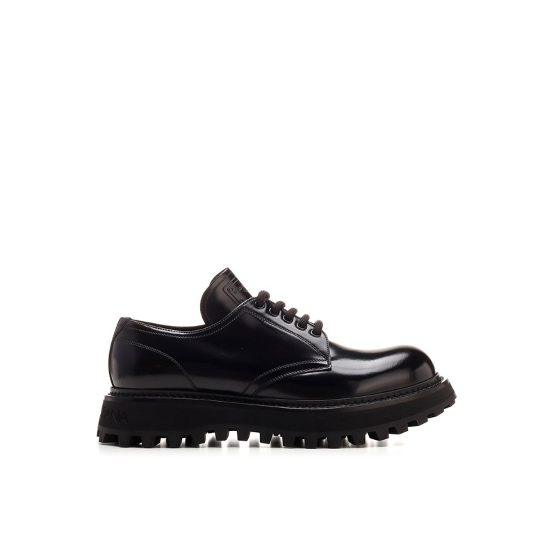 BRUSHED CALFSKIN DERBY SHOES WITH EXTRA-LIGHT SOLE