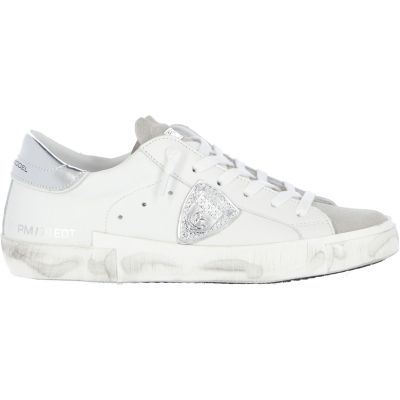 PRSX LEATHER SNEAKERS WITH LAMINATED SPOILER