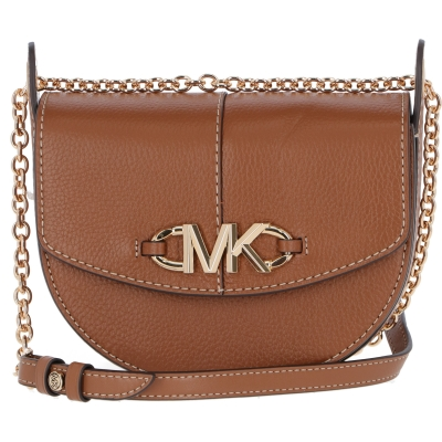 IZZY LEATHER BAG WITH LOGOED FASTENING