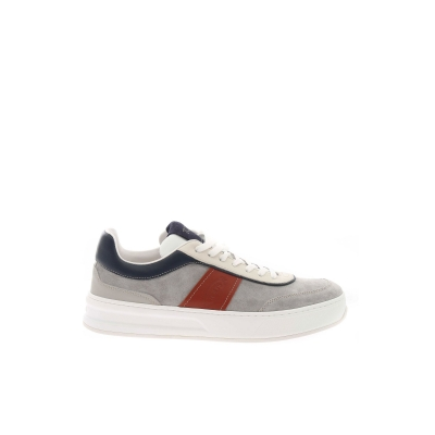 MULTICOLOR LEATHER AND SUEDE TABS SNEAKERS