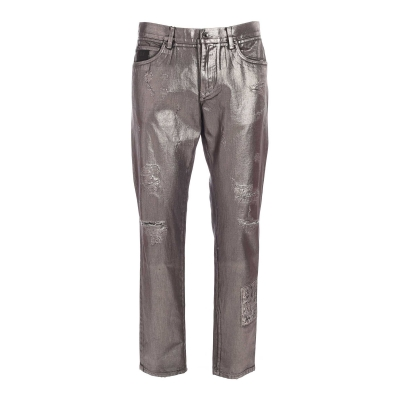 PLATED REGULAR-FIT JEANS