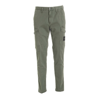 STRETCH BROKEN TWILL COTTON_'OLD' EFFECT_SLIM FIT PANTS