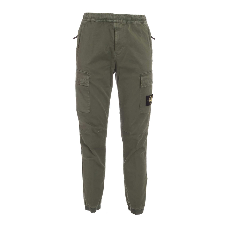 BROKEN TWILL STRETCH DI COTONE_EFFETTO 'OLD'_REGULAR TAPERED FIT PANTS