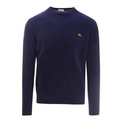 LOGO EMBROIDERY SWEATER IN BLUE