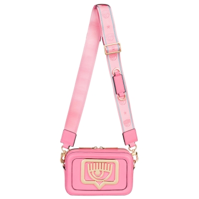 FAUX LEATHER CROSSBODY WITH GOLDEN LOGO