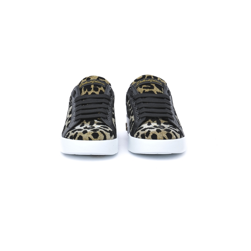 Sneaker Donna in pelle e tessuto con stampe maculate ANIMALIER ANIMALIER